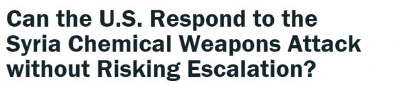 2 外媒就叙利亚化武报道截图