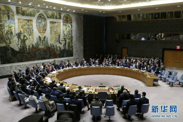 4 4月14日,在位于纽约的联合国总部,安理会对旨在谴责对叙利亚军事打击的决议草案进行表决。联合国安理会14日未能通过俄罗斯起草的旨在谴责对叙利亚军事打击的决议草案。 新华社记者李木子摄