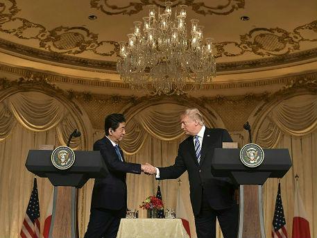 """安倍访美遭""""打脸"""":特朗普拒返TPP 不给日本关税豁免"""