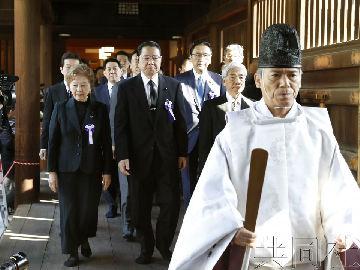 日媒:日本76名国会议员今日集体参拜靖国神社