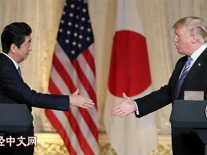 日媒:日美首脑谈不拢贸易问题 日本难与美国联手应对中国