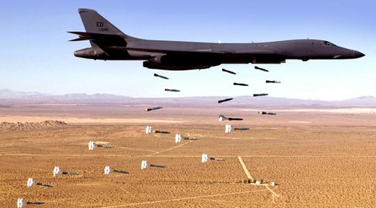 对叙动武杀手!美曝B-1B轰炸机参战视频