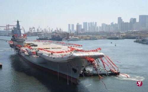 境外媒体猜测中国首艘国产航母海试在即