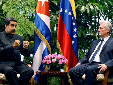 外媒:卡内尔上任后首晤马杜罗 第一夫人开启古巴礼仪新时代