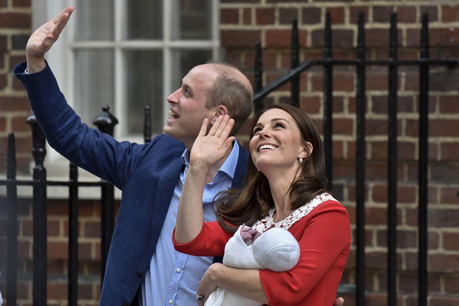 英国凯特王妃诞下第三胎