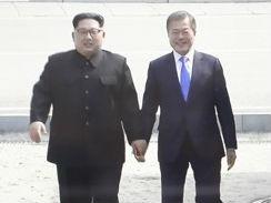 首脑会谈前 金正恩邀文在寅跨分界线短暂踏足朝鲜