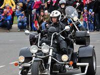 拉脱维亚举办摩托车巡游活动