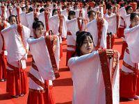 西安举行千名学子传统成人礼
