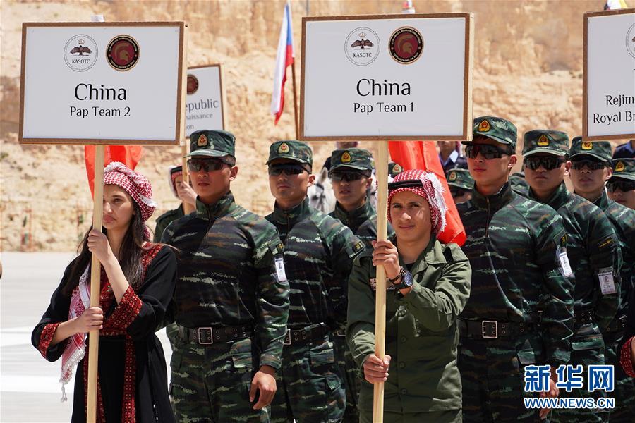 """中国武警代表队参加约旦""""勇士竞赛""""国际特种兵比武"""