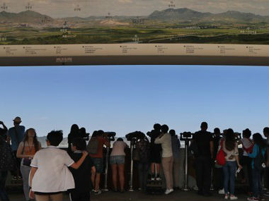 韩媒:韩朝关系转暖带热边境游 咨询量暴增1.5倍