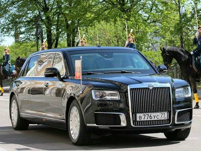 普京乘国产新座驾参加总统就职典礼 宾客:比特朗普酷(图)