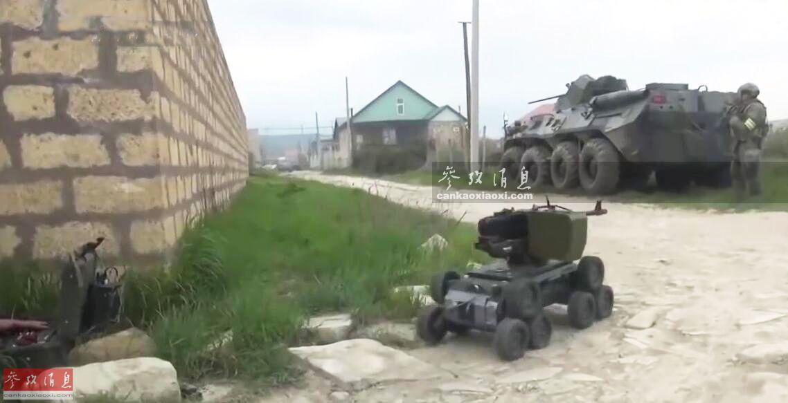 无人战车开路!俄军用装甲车灭恐怖分子