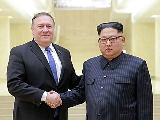 金正恩会见美国务卿蓬佩奥