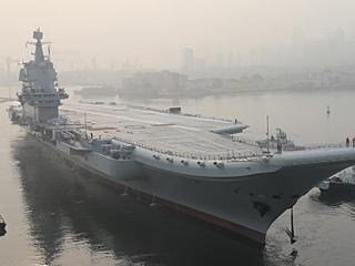 中国第二艘航母首次试航