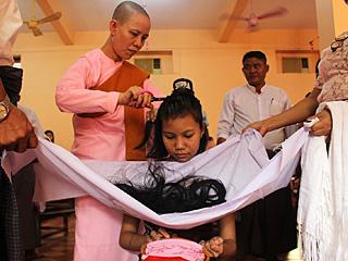缅甸人的头发最受欢迎?