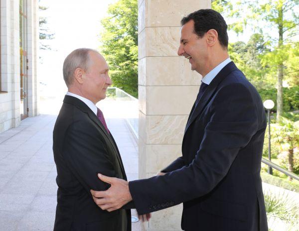 巴沙尔秘访索契会晤普京 敦促外国军队撤离