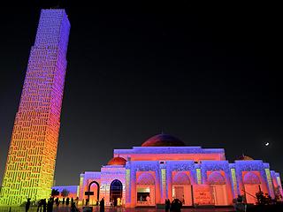 阿米纳清真寺:阿联酋举行斋月灯光秀