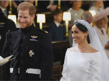 哈里王子与梅根世纪婚礼:两任前女友出席 10万群众涌入现场