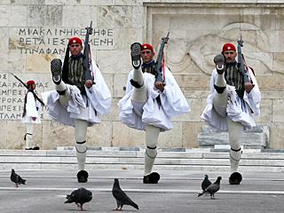 雅典独特风景:总统卫队