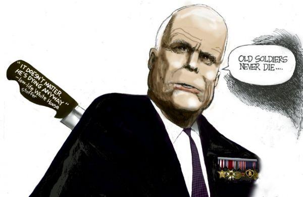 麦凯恩与病魔顽强斗争,却遭白宫背后捅刀