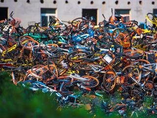 多地频现共享单车
