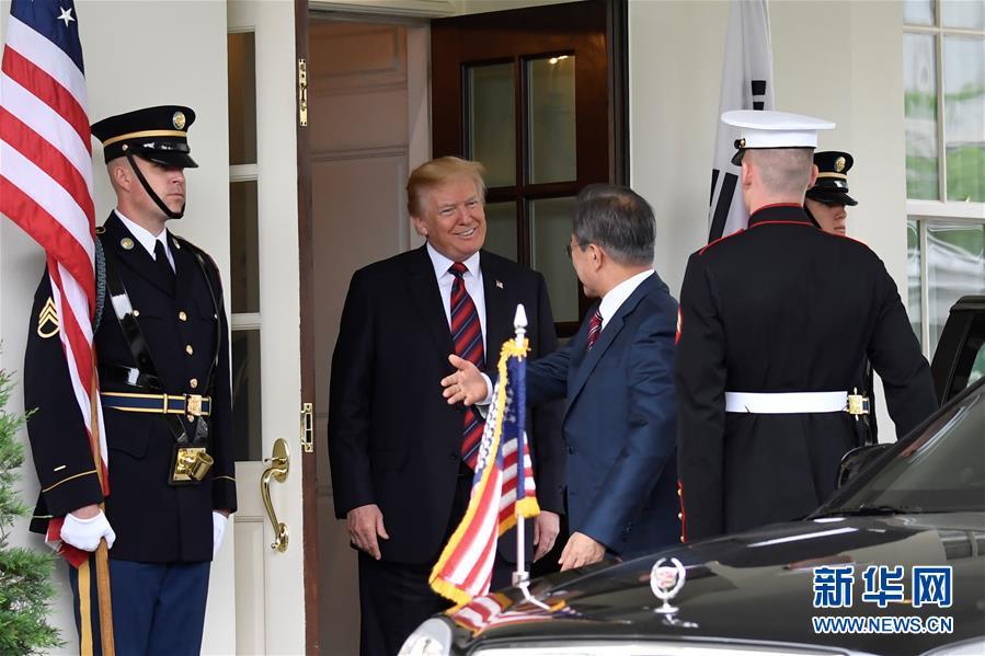 美国总统特朗普在白宫会见韩国总统文在寅