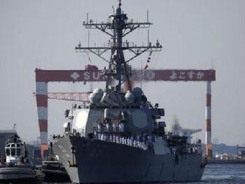 """美军先进导弹驱逐舰抵日本 外媒:""""特金会""""前亮肌肉"""