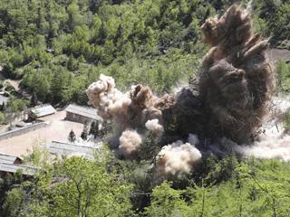 直击朝鲜废弃丰溪里核试验场