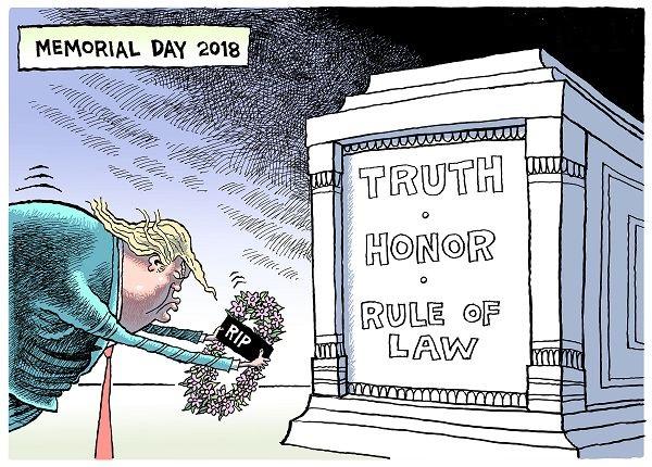 """悼念谁?美国被埋葬的""""真相、荣誉和法治"""""""