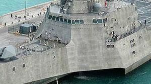 科幻舰体 可搭载无人机 美最新濒海战斗舰入役