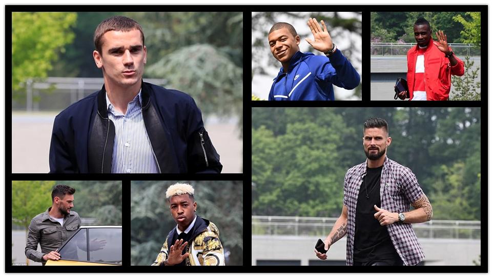 """谁才是""""时尚精""""!透过法国队世界杯集训看球星穿衣品味"""