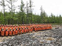 大兴安岭火灾:救火人员向汗马火场集结