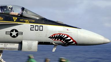 """鲨鱼凶猛!美战机""""兽头""""装掠影"""