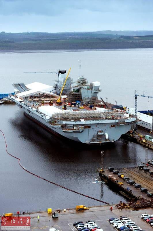 """近日,据网上发布的最新组图显示,英国皇家海军的第二艘伊丽莎白女王级航母""""威尔士亲王""""号的主体工程已完工。英国国防部也于近日表示,""""威尔士亲王""""号已基本完工,等待交付,预计将于2020年服役。41"""