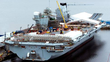 进度紧追中国航母!英第二艘女王级完工