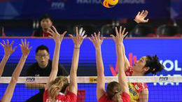 中国女排3:0胜俄罗斯,获世界排球联赛江门站首胜