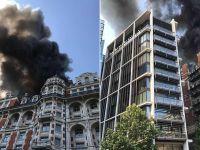 伦敦一酒店发生火灾 约100名消防员赶赴现场救火