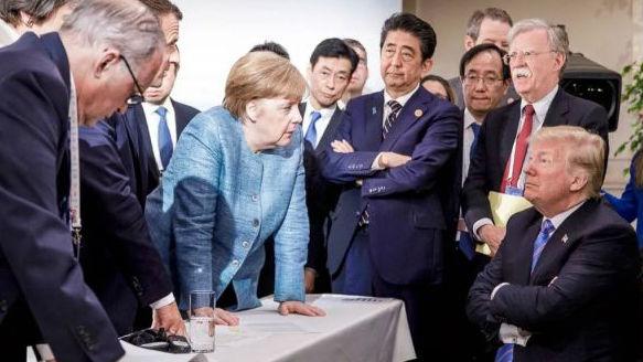 G7峰会黯淡收场令人大跌眼镜?俄媒:美欧早就貌合神离