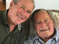 父子自拍:老布什成为首位庆祝94岁生日的美国总统