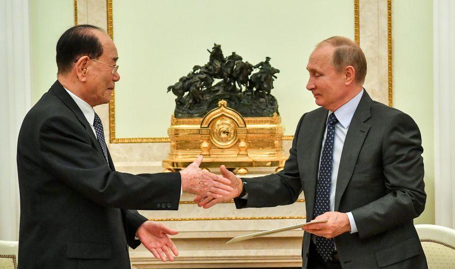 普京会见金永南 向金正恩发出访俄邀请