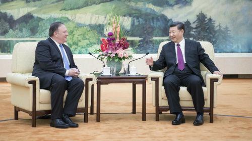 """蓬佩奥访华通报""""特金会"""" 中方支持政治解决半岛问题"""