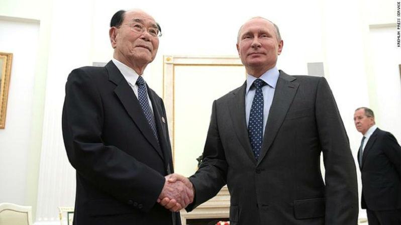 外媒:普京会见金永南 正式邀请金正恩9月访问俄罗斯