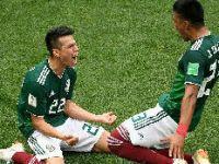 墨西哥队攻入德国一球后是这么庆祝的!