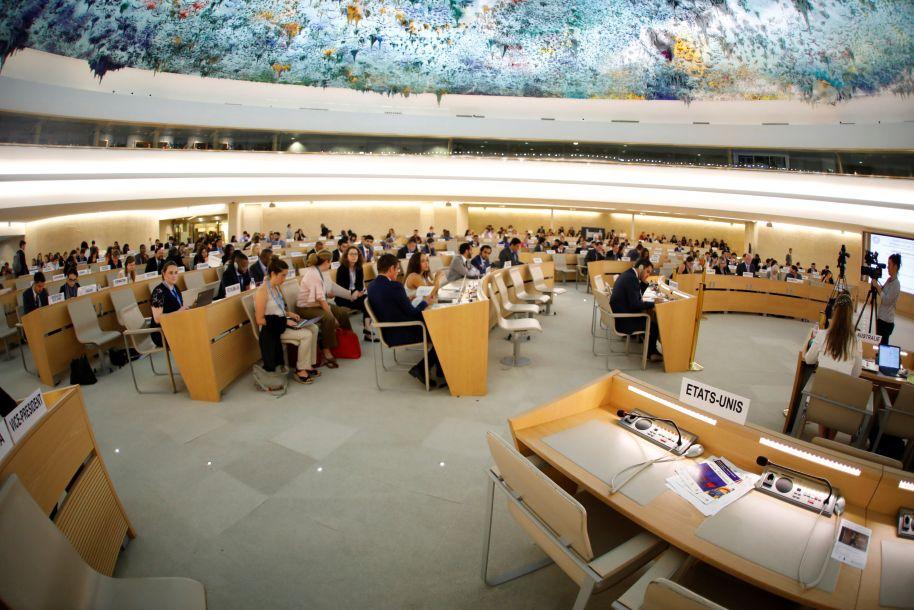 退出联合国人权理事会之后:美国代表团座位空空如也