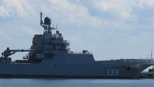俄最大型登陆舰入役 可两栖投放整营陆战队