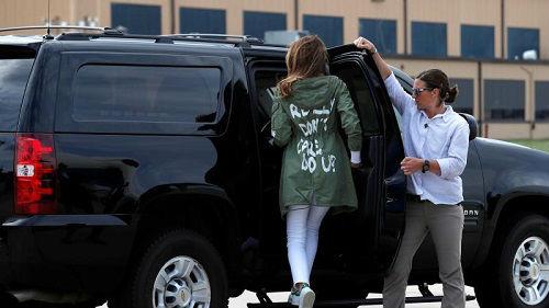 美国第一夫人因穿这件衣服遭批 特朗普这样为妻子解释