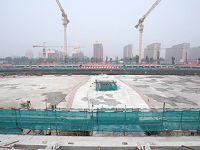 北京冬奥场馆国家速滑馆地下结构封顶