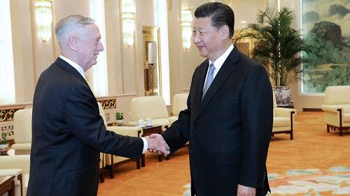 外媒:美国防长马蒂斯首访中国展示合作姿态