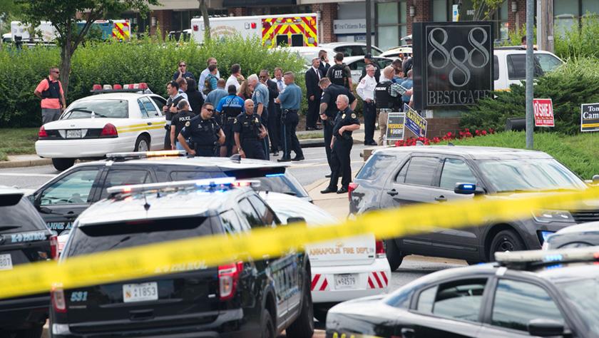 美国马里兰州一报社发生枪击事件致5人死亡