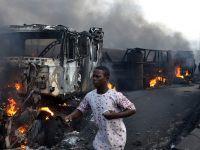 尼日利亚一油罐车爆炸波及数十辆汽车 至少9人死亡